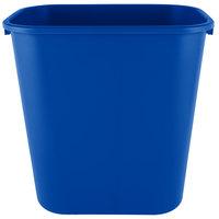 Rubbermaid 2031824 28 Qt. / 7 Gallon Blue Rectangular Wastebasket / Trash Can