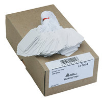 Avery 12202 2 5/32 inch x 1 7/16 inch White Strung Marking Tag - 1000/Box
