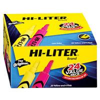 Avery 98189 Hi-Liter® Assorted Color Chisel Tip Desk Style Highlighter Value Pack - 24/Box