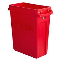 Rubbermaid 2018370 Slim Jim 64 Qt. / 16 Gallon Red Trash Can