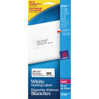 Avery 02160 Mini-Sheets 1 inch x 2 5/8 inch White Address Labels - 200/Pack