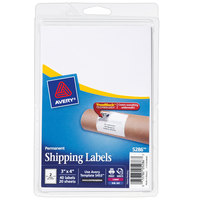 Avery 05286 TrueBlock 3 inch x 4 inch White Rectangle Shipping Labels - 40/Pack