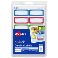 Avery 41441 3/4 inch x 1 3/4 inch Assorted Color Handwrite Only Durable Kids Label - 60/Pack