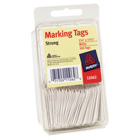 Avery 11062 1 3/4 inch x 1 3/32 inch White Strung Marking Tag - 100/Pack