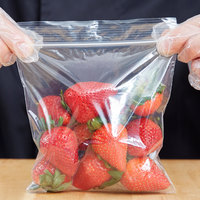 6 inch x 6 inch Seal Top Plastic Food Bag - 1000/Box