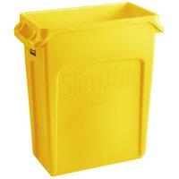 Rubbermaid 2018371 Slim Jim 64 Qt. / 16 Gallon Yellow Trash Can