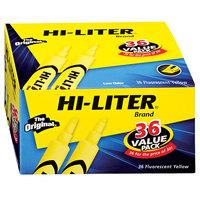 Avery 98208 Hi-Liter® Fluorescent Yellow Chisel Tip Desk Style Highlighter Value Pack - 36/Box