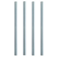 Regency 26 1/4 inch Replacement Galvanized Steel Leg for Work Tables - 5 inch Casters Required