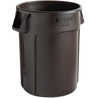 Rubbermaid 2018392 BRUTE 44 Gallon Brown Trash Can