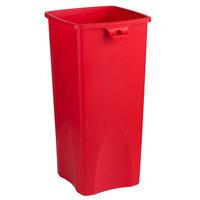 Rubbermaid 2018372 Untouchable 92 Qt. / 23 Gallon Red Square Trash Can