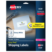 Avery 06528 Easy Peel 2 inch x 4 inch White Shipping Labels - 250/Pack
