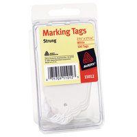Avery 11012 2 3/4 inch x 1 11/16 inch White Strung Marking Tag - 100/Pack