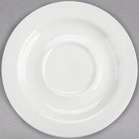 Homer Laughlin 6556000 Pristine Ameriwhite 5 3/4 inch Bright White China Saucer - 36/Case