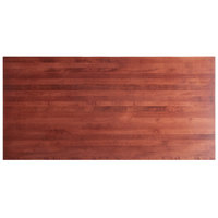 Lancaster Table & Seating 30 inch x 60 inch Solid Wood Live Edge Table Top with Mahogany Finish