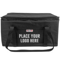 Sterno 70564 Black Large Customizable Catering Space Saver Insulated Food Carrier, 24 inch x 16 inch x 14 inch - Holds (3) Full Size Food Pans