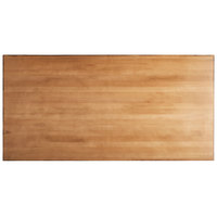 Lancaster Table & Seating 30 inch x 60 inch Solid Wood Live Edge Table Top with Antique Natural Finish