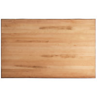 Lancaster Table & Seating 30 inch x 48 inch Solid Wood Live Edge Table Top with Antique Natural Finish