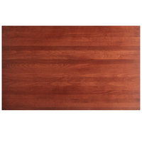 Lancaster Table & Seating 30 inch x 48 inch Solid Wood Live Edge Table Top with Mahogany Finish