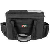 Sterno 70533 Delivery Deluxe Black 2XL Space Saver Insulated Food Carrier, 22 inch x 13 inch x 17 3/4 inch - Holds (10) 9 inch x 9 inch x 3 inch Meal Containers