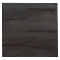 Lancaster Table & Seating 30 inch x 30 inch Solid Wood Live Edge Table Top with Antique Slate Gray Finish