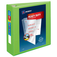 Avery 79779 Chartreuse Heavy-Duty View Binder with 3 inch Locking One Touch EZD Rings
