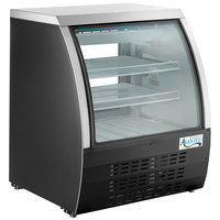 Avantco DLC36-HC-B 36 inch Black Curved Glass Refrigerated Deli Case