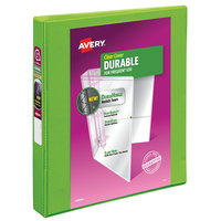 Avery 17263 Chartreuse Durable View Binder with 1 inch Slant Rings