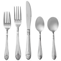 Acopa Monaca 18/8 Stainless Steel Extra Heavy Weight Flatware Set with Service for 12 - 60/Pack