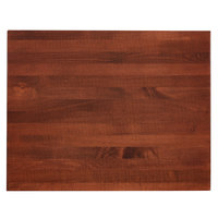 Lancaster Table & Seating 24 inch x 30 inch Solid Wood Live Edge Table Top with Mahogany Finish