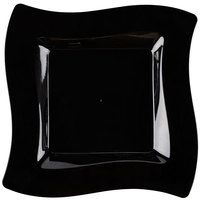 "Fineline Wavetrends 110-BK 10 3/4"" Black Plastic Square Plate - 120/Case"