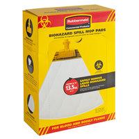 Rubbermaid 2017060 Spill Mop Biohazard Mop Pad - 10/Pack