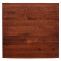 Lancaster Table & Seating 30 inch x 30 inch Solid Wood Live Edge Table Top with Mahogany Finish