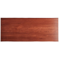 Lancaster Table & Seating 30 inch x 72 inch Solid Wood Live Edge Table Top with Mahogany Finish