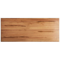 Lancaster Table & Seating 30 inch x 72 inch Solid Wood Live Edge Table Top with Antique Natural Finish