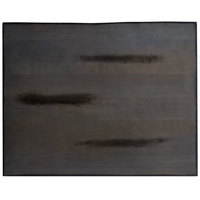 Lancaster Table & Seating 24 inch x 30 inch Solid Wood Live Edge Table Top with Antique Slate Gray Finish