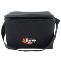 Sterno 72600 Black XS Delivery Insulated Food Carrier, 10 inch x 8 inch x 7 inch - Holds (6) Cans