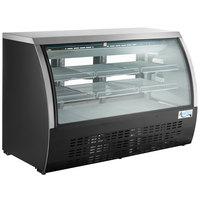 Avantco DLC64-HC-B 64 inch Black Curved Glass Refrigerated Deli Case