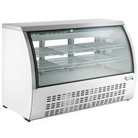 Avantco DLC64-HC-W 64 inch White Curved Glass Refrigerated Deli Case