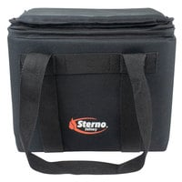 Sterno 72602 Black Small Delivery Insulated Food Carrier, 12 inch x 9 1/2 inch x 10 inch - Holds (12) Cans