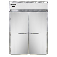 Continental DL2WI-SA 68 1/2 inch 2 Section Solid Door Roll-In Warmer - 3000W