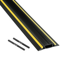 D-Line FC83H9M 3 1/4 inchx 30' Black and Yellow Medium Duty Floor Cable Cover
