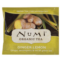 Numi Organic Decaf Ginger Lemon Tea Bags - 100/Case