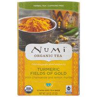 Numi Organic Fields of Gold Turmeric Tea Bags - 12/Box