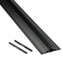 D-Line FC68B9M 2 5/8 inch x 30' Black Medium Duty Floor Cable Cover