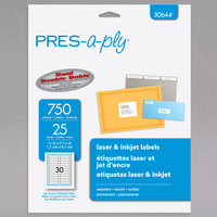 Avery 30644 PRES-a-ply 2/3 inch x 3 7/16 inch Assorted Matte Color Permanent Printable Label - 750/Pack