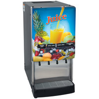 Bunn 37300.0006 JDF-4S LD 4 Flavor Cold Beverage Juice Dispenser with Lit Door and Cold Water Tap