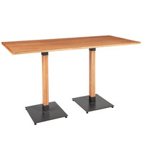 Lancaster Table & Seating 30 inch x 72 inch Solid Wood Live Edge Bar Height Table with Antique Natural Finish