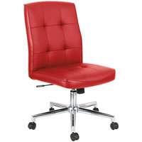 Alera ALENT4936 Slimline Series Red Textured Swivel Task Chair with Chrome Base
