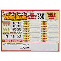 Grand Banana 5 Window Pull Tab Tickets - 1485 Tickets Per Deal - Total Payout: $555.50