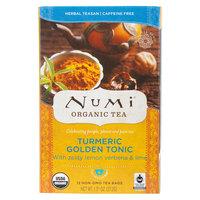 Numi Organic Golden Tonic Turmeric Tea Bags - 12/Box